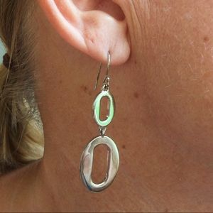 Coach silver dangle earrings